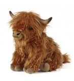 PELUCHE VACHE HIGHLAND AVEC SON 26 CM - LIVING NATURE - AN341