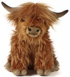 PELUCHE VACHE HIGHLAND AVEC SON 33 CM - LIVING NATURE - AN341