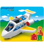 PLAYMOBIL 1.2.3 6780 AVION DE LIGNE