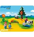 PLAYMOBIL 1.2.3 6788 FAMILLE AVEC ANIMAUX DE LA PRAIRIE