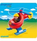 PLAYMOBIL 1.2.3 6789 POMPIER AVEC HELICOPTERE