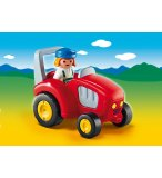 PLAYMOBIL 1.2.3 6794 AGRICULTRICE AVEC TRACTEUR