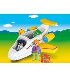 PLAYMOBIL 1.2.3 70185 AVION AVEC PILOTE ET VACANCIERE