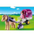 PLAYMOBIL 123 9390 CARRIOLE AVEC CHEVAL