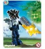 PLAYMOBIL CHASSEURS DE TRESORS 4849 GARDIEN DU TEMPLE AVEC ARME LUMINEUSE ORANGE