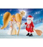 PLAYMOBIL CHRISTMAS 9498 DUO PACK PERE NOEL ET ANGE