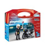 PLAYMOBIL CITY ACTION 5648 VALISETTE MOTARD DE POLICE