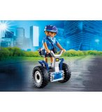 PLAYMOBIL CITY ACTION 6877 POLICIERE AVEC GYROPODE