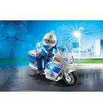 PLAYMOBIL CITY ACTION 6923 MOTO DE POLICIER AVEC GYROPHARE