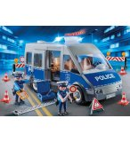 PLAYMOBIL CITY ACTION 9236 FOURGON DE POLICIER AVEC MATERIEL DE BARRAGE
