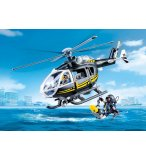 PLAYMOBIL CITY ACTION 9363 HELICOPTERE ET POLICIERS D'ELITE