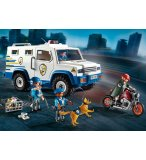 PLAYMOBIL CITY ACTION 9371 FOURGON BLINDE AVEC CONVOYEURS DE FONDS