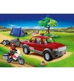 PLAYMOBIL FAMILY FUN 70116 PICK-UP ET MOTO AVEC TENTE