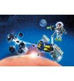 PLAYMOBIL SPACE 9490 SPATIONAUTE AVEC SATELLITE ET METEORITE