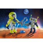 PLAYMOBIL SPACE 9492 DUO SPATIONAUTE ET ROBOT