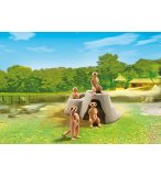 PLAYMOBIL ZOO 6655 SURICATES AVEC ROCHER