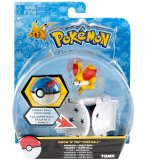 POKEMON FEUNNEC AVEC SUPER BALL - POKEBALL - FIGURINE - TOMY - T18876