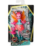 POUPEE MONSTER HIGH FRIENDLY AILEES : LUMINA LA LUCIOLE AVEC CREATURE ROSE DU JARDIN - MATTEL - FCV50