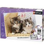 PUZZLE 2 CHATONS 100 PIECES - COLLECTION ANIMAUX - NATHAN - 86766