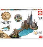 PUZZLE 3D EN BOIS : MANHATTAN DREAM 160 PIECES - COLLECTION MONUMENT - EDUCA - 17000