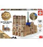 PUZZLE 3D EN BOIS : NOTRE DAME DE PARIS 148 PIECES - COLLECTION MONUMENT - EDUCA - 16974