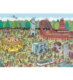 PUZZLE A LA FETE FORAINE : OU EST CHARLIE 500 PIECES - COLLECTION MES HEROS - NATHAN - 871148