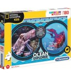 PUZZLE ANIMAUX MARINS POULPE ET MEDUSE - 180 PIECES - COLLECTION NATIONAL GEOGRAPHIC - CLEMENTONI - 29205