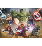 PUZZLE AVENGERS : THOR BLACK PANTHER HULK IRON MAN 1000 PIECES - COLLECTION SUPER HEROES - EDUCA 17694