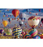 PUZZLE BALLONS DIRIGEABLES / MONTGOLFIERES 1500 PIECES - COLLECTION PAYSAGE - EDUCA - 17977