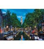 PUZZLE CANAL D'AMSTERDAM AU CREPUSCULE - 1500 PIECES - COLLECTION PAYSAGE - EDUCA - 16767