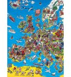 PUZZLE CARTE D'EUROPE 1000 PIECES - COLLECTION GEOGRAPHIE - CLEMENTONI - 39384