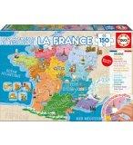 PUZZLE CARTE DE FRANCE : DEPARTEMENTS ET REGIONS 150 PIECES - EDUCA - 17238