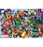PUZZLE COMICS HEROS MARVEL : HULK SPIDER MAN FLASH CAPTAIN AMERICAN 1000 PIECES - COLLECTION SUPER HEROES - EDUCA 15193