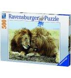 PUZZLE COUPLE DE LIONS 500 PIECES - COLLECTION ANIMAUX SAUVAGES - RAVENSBURGER - 145027