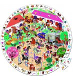 PUZZLE D'OBSERVATION ROND EQUITATION - AU GALOP 208 PIECES - JANOD - J02796