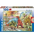 PUZZLE DINOSAURES 100 PIECES - EDUCA - 13179