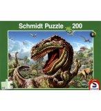 PUZZLE DINOSAURES : TYRANNOSAURE REX 200 PIECES - SCHMIDT - 56105
