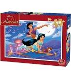 PUZZLE DISNEY ALADDIN AVEC JASMINE ABU SUR LE TAPIS MAGIQUE 99 PIECES - KING - 55820A