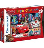 PUZZLE DISNEY CARS - 104 PIECES - PUZZLE SUPER COLOR MAXI - CLEMENTONI - 23623