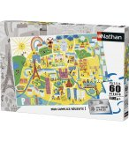 PUZZLE DISNEY - PLAN DE PARIS 60 PIECES - NATHAN - 86566