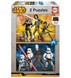 PUZZLE DISNEY : STAR WARS REBELS 2 X 48 PIECES - EDUCA - 16168