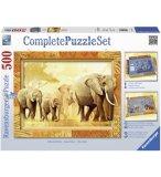 PUZZLE ELEPHANTS : VOYAGE AFRICAIN 500 PIECES - COLLECTION ANIMAUX - RAVENSBURGER - 143450