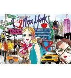 PUZZLE EMMENE MOI A NEW-YORK 500 PIECES - COLLECTION ETAT-UNIS - EDUCA - 17649