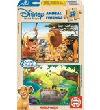 PUZZLE EN BOIS ANIMAL FRIENDS 2 X 50 PIECES - EDUCA - 13144