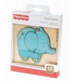 PUZZLE EN BOIS AVEC CADRE : ELEPHANT BLEU 4 PIECES - FISHER PRICE - 32500F