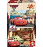 PUZZLE EN BOIS CARS 2 2 X 25 PIECES - EDUCA - 14935