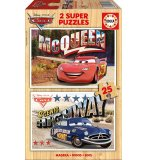 PUZZLE EN BOIS CARS 2 X 25 PIECES - EDUCA - 16799