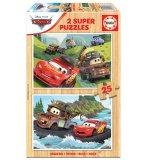 PUZZLE EN BOIS CARS : FLASH MCQUEEN ET MARTIN 2 X 25 PIECES - EDUCA - 18877