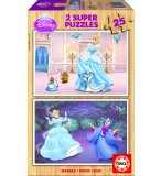 PUZZLE EN BOIS DISNEY CENDRILLON 2 X 25 PIECES - EDUCA - 15284