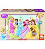 PUZZLE EN BOIS DISNEY LES PRINCESSES 100 PIECES - EDUCA - 15287